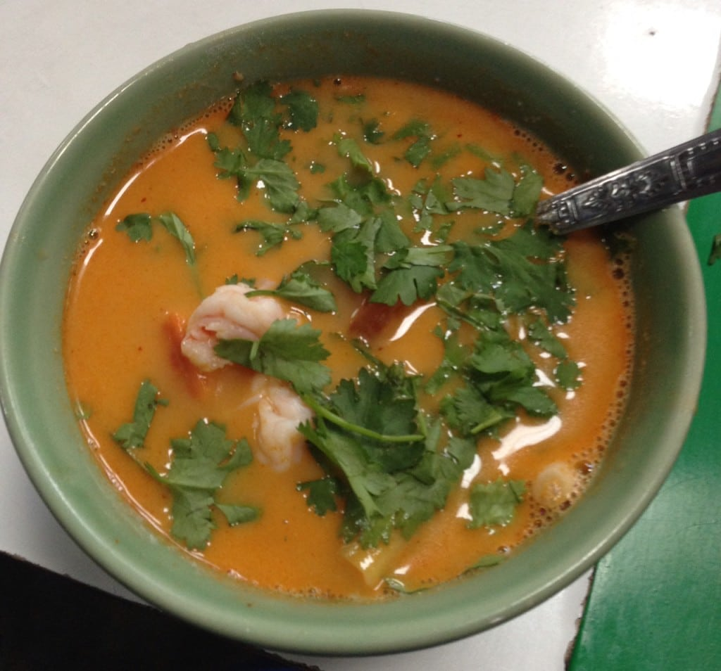"Tom Yum Soup that we made in our class - ""Quick Trip to Chiang Mai Thailand"" - Two Traveling Texans"