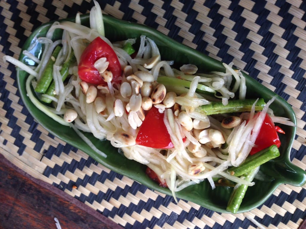 "Papaya salad that we made in our class - ""Quick Trip to Chiang Mai Thailand"" - Two Traveling Texans"