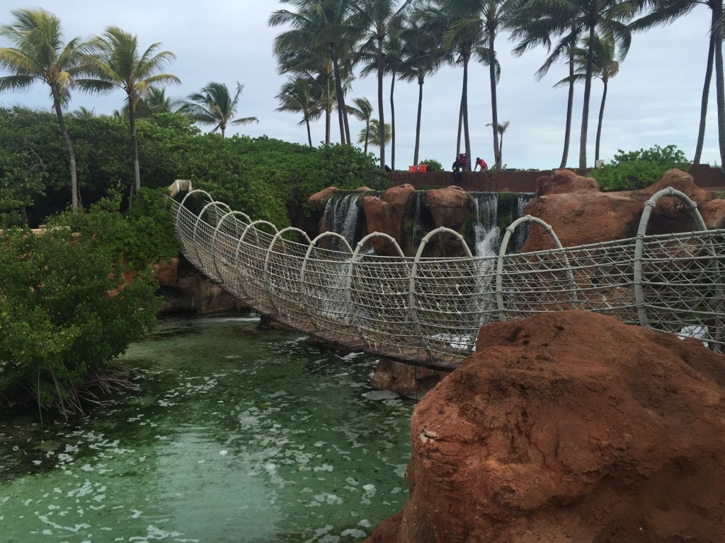 """Rope bridge I found while exploring - """"The Secrets of Atlantis in the Bahamas"""" - Two Traveling Texans"""