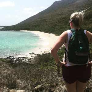 Katherine hiking in St. Martin