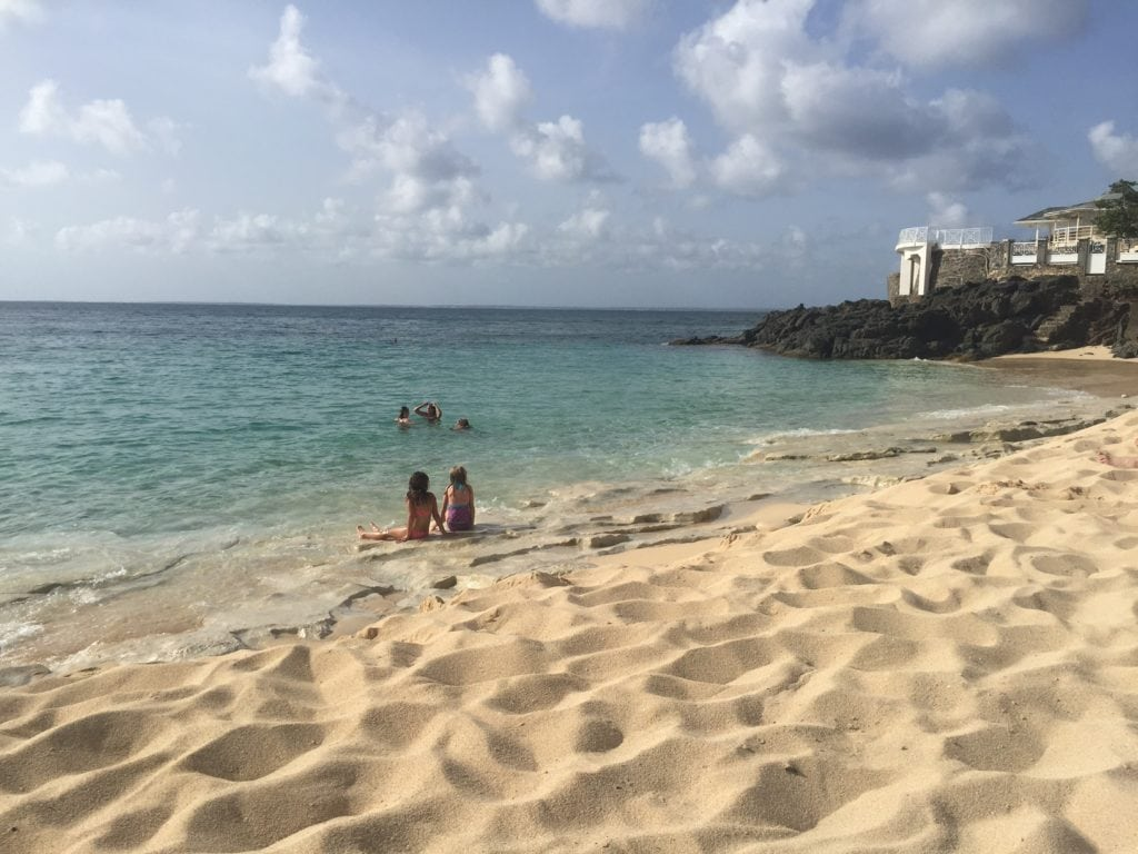 "Baie Rouge is one of our favorite beaches in St. Martin -""Scam Alert: Massages at Baie Rouge Beach in St. Martin"" - Two Traveling Texans"