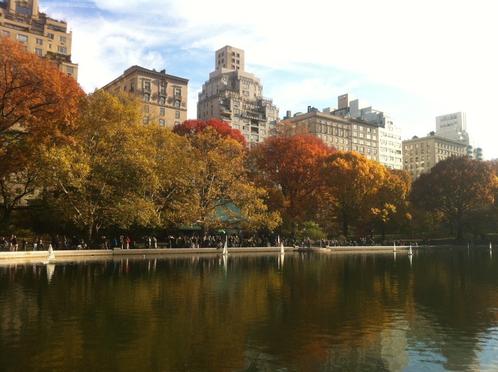 The Conservatory Water in the Fall,