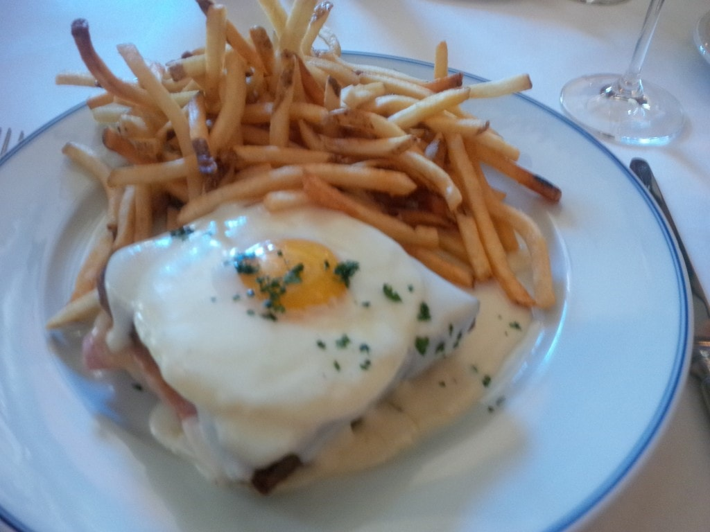 """Amazing croque madame at Bouchon - """"The Bellagio Las Vegas in July - Hot Hot Hot!"""" - Two Traveling Texans"""