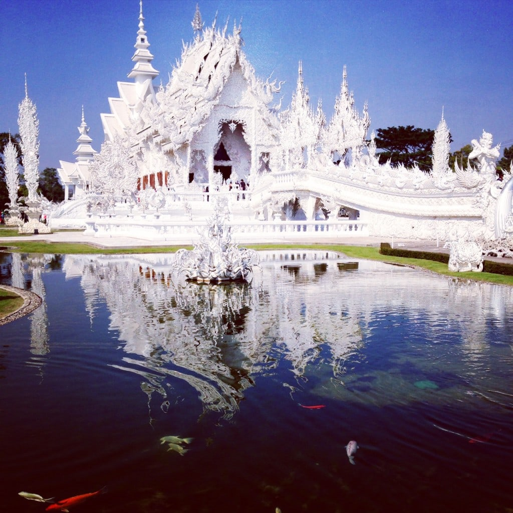 The main building of the White Temple....breathtaking, not sure this picture does it justice.