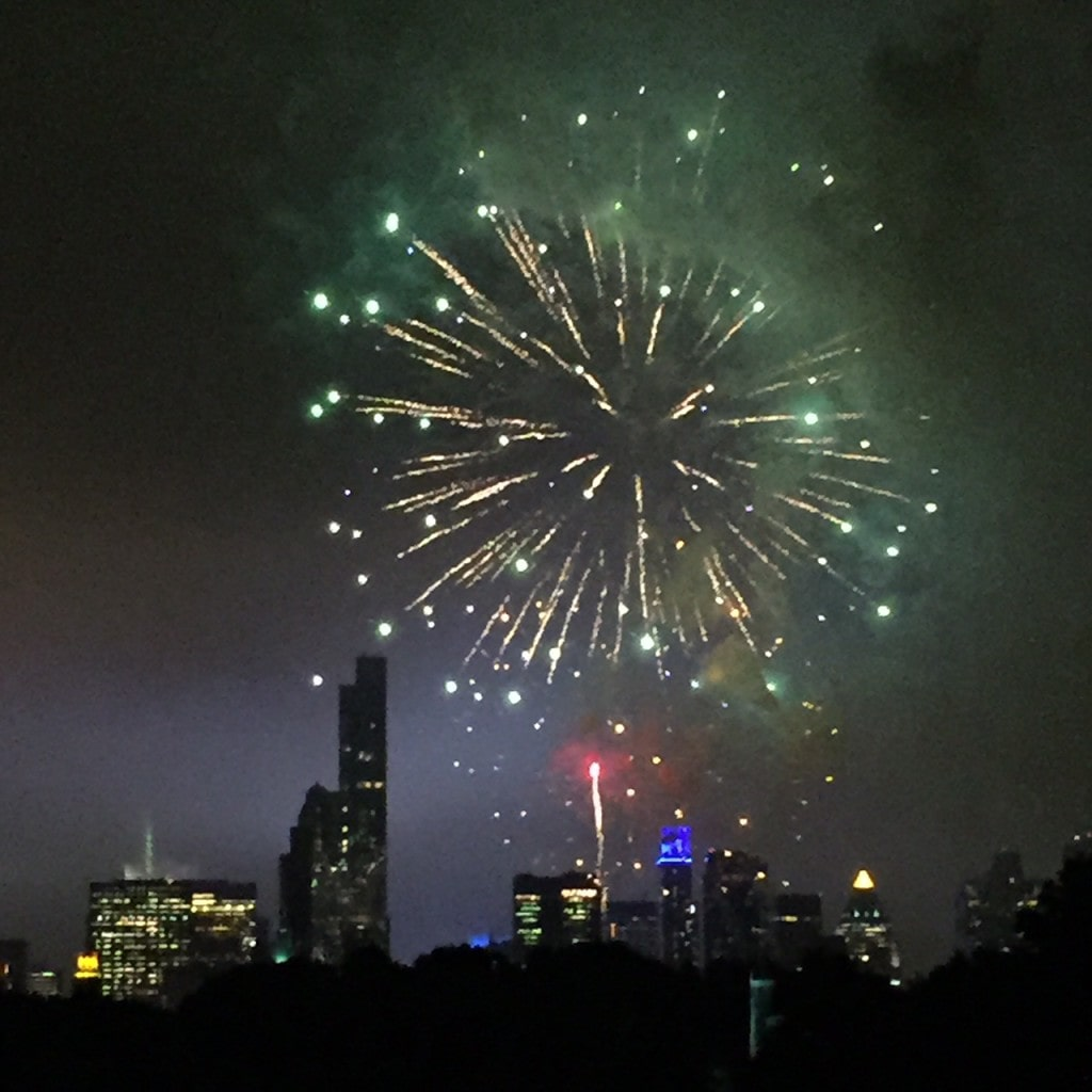 Fireworks show after Philharmonic in the Park.