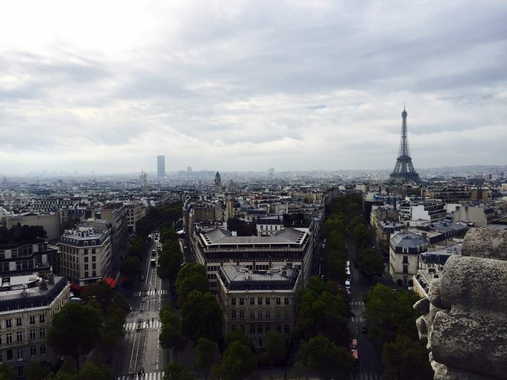 """View of the Eiffel Tower from the Arc de Triomphe - """"12 Random Observations about Paris, France"""" - Two Traveling Texans"""