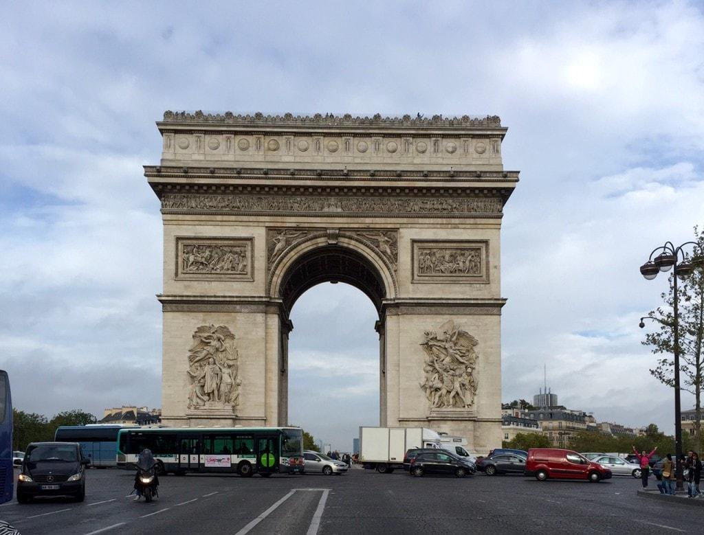 """Arc de Triomphe - """"12 Random Observations about Paris, France"""" - Two Traveling Texans"""