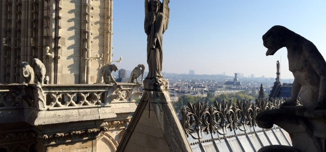 Morning with Gargoyles of Notre Dame de Paris