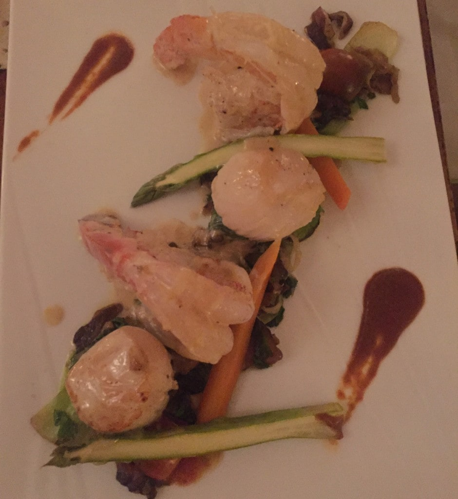 """Shrimp and scallops - """"Our Five Favorite Restaurants in St Martin"""" - Two Traveling Texans"""