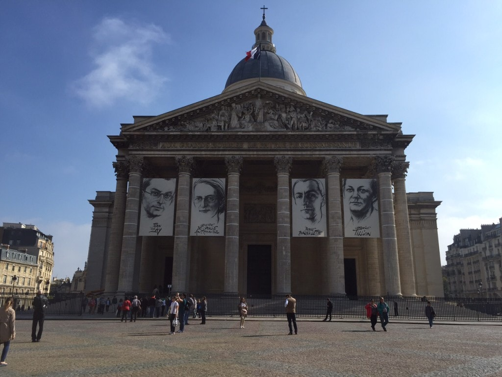Pantheon under renovation - hard to tell from this angle but there is scaffolding on the side