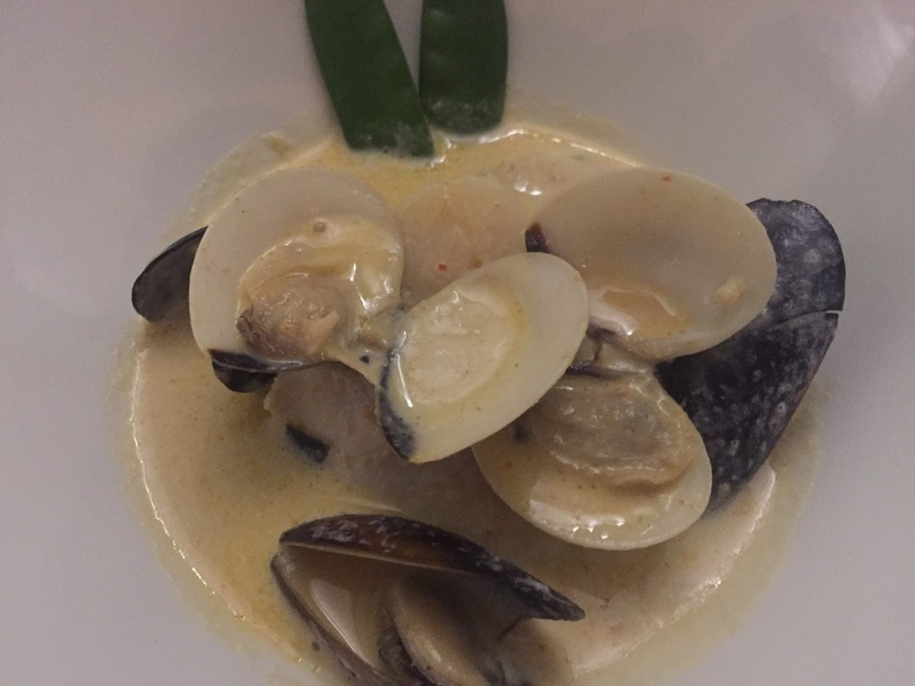 """Seafood in a coconut broth, so good! - """"Our Five Favorite Restaurants in St Martin"""" - Two Traveling Texans"""