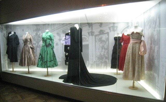 Some of the dresses that Eva Peron wore were on exhibit in the museum.