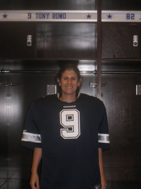 Anisa by Tony Romo's locker