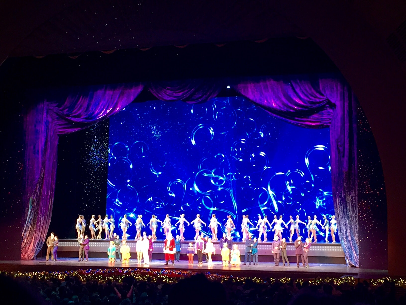 Santa and the Rockettes at the Radio City Christmas Spectacular