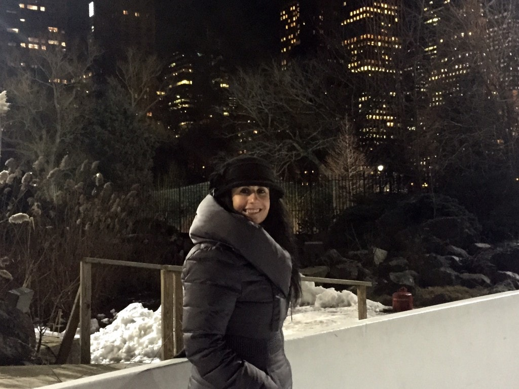Anisa at the Wollman Rink in Central Park