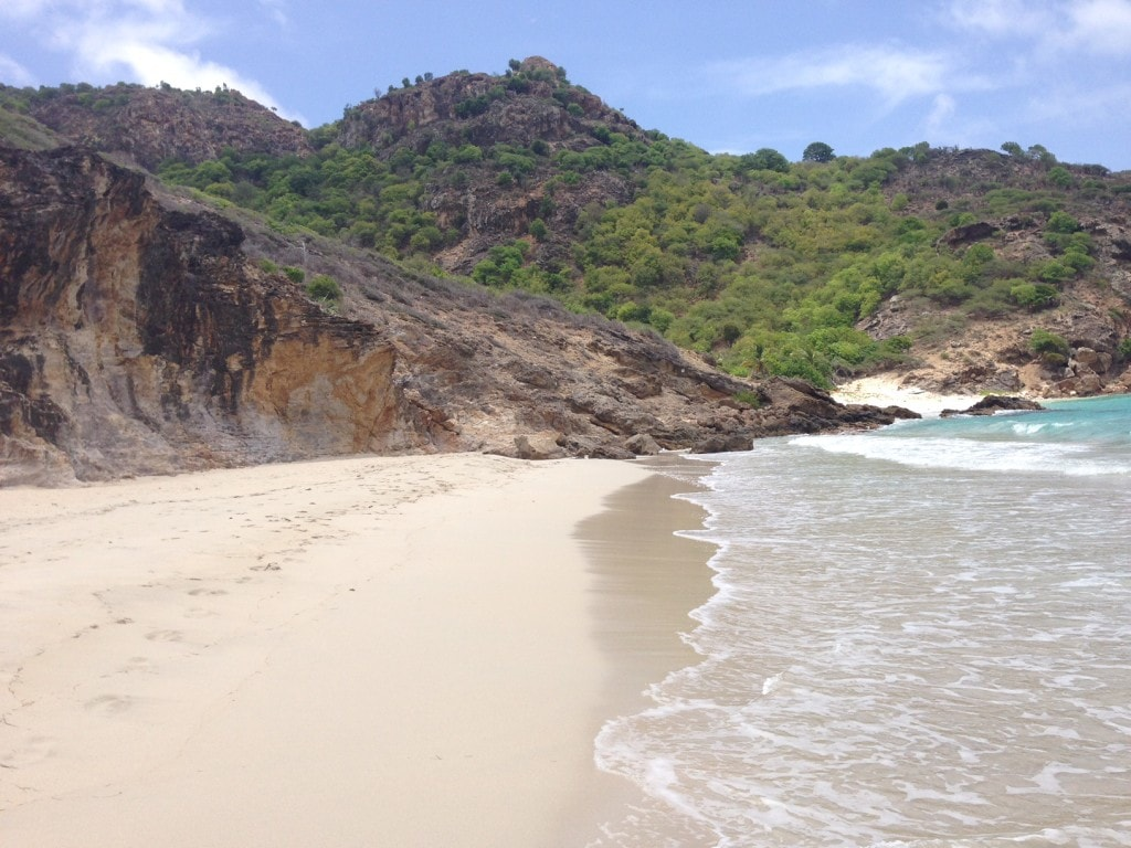 """The beautiful and quiet Saline beach - """"St. Barts for the Day"""" - Two Traveling Texans"""