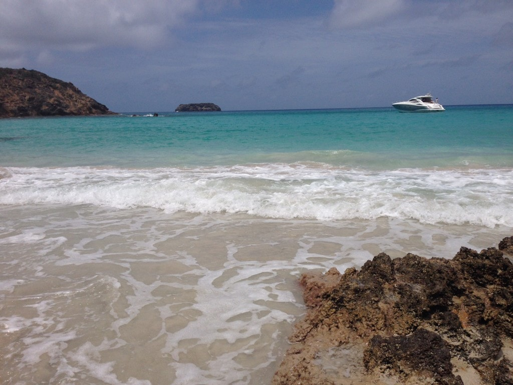 """The water at Saline beach was just perfect. - """"St. Barts for the Day - Two Traveling Texans"""