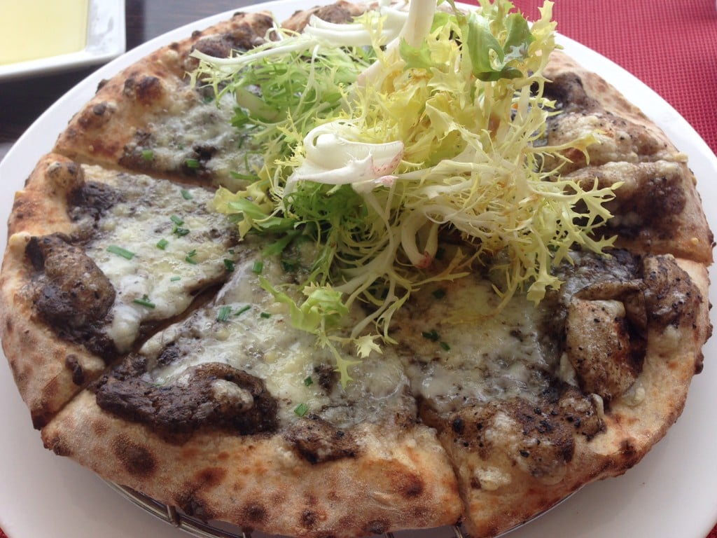 """Truffle pizza at the Sand Bar - """"St. Barts for the Day"""" - Two Traveling Texans"""
