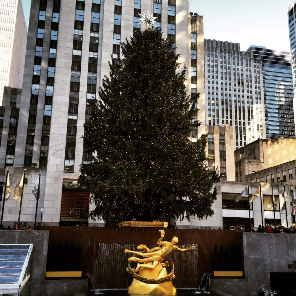 The famous Rockefeller Center Christmas Tree!