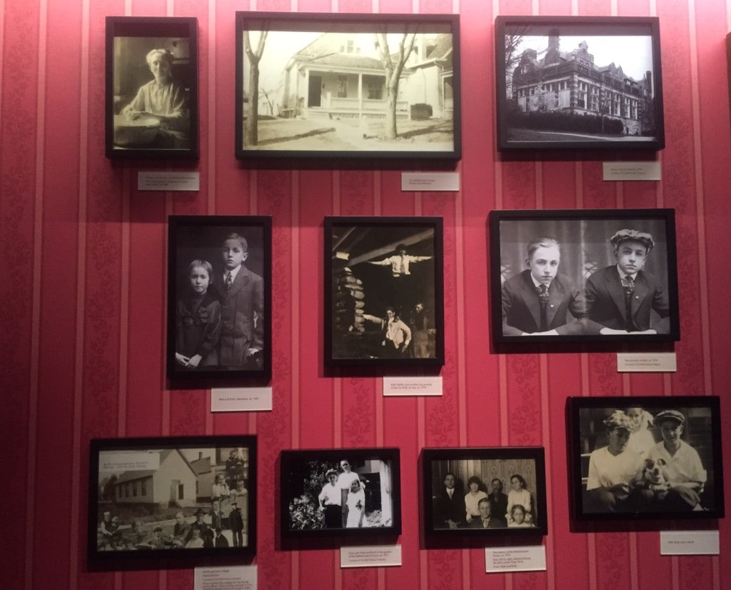 Pictures of Walt Disney and family.