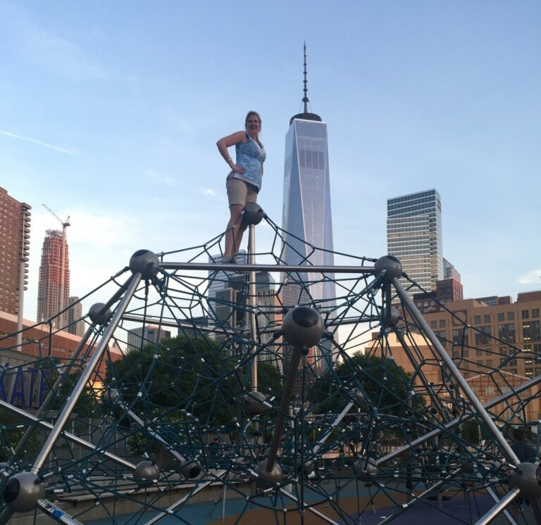 "Katherine having fun on her trip to New York in May 2015 - ""Our 2016 Travel Wish List"" - Two Traveling Texans"