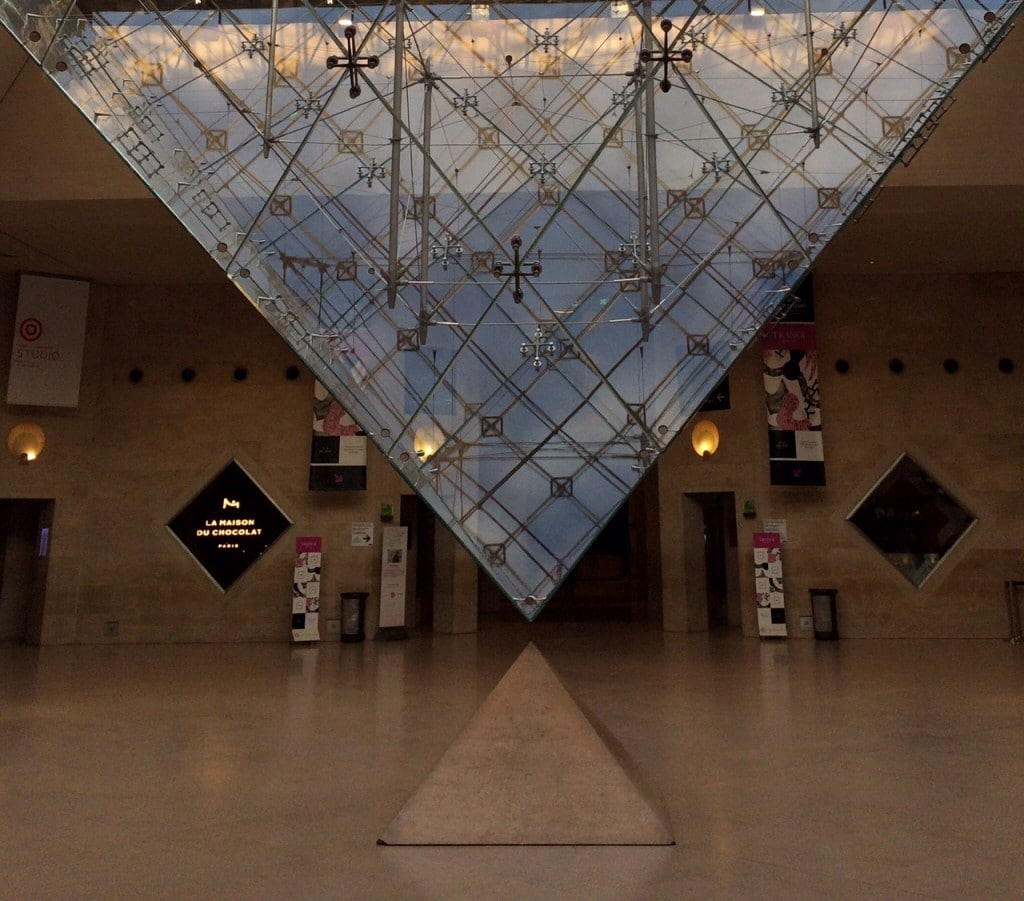 Save time and enter the Louvre by the pyramid inversee