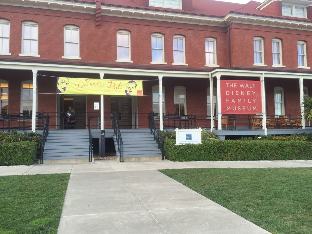 The entrance to the Walt Disney Family Museum