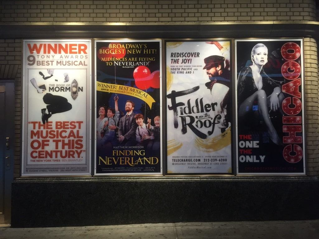 """Some of the Broadway show that are currently playing - """"How to Save Money on Broadway Tickets"""" - Two Traveling Texans"""