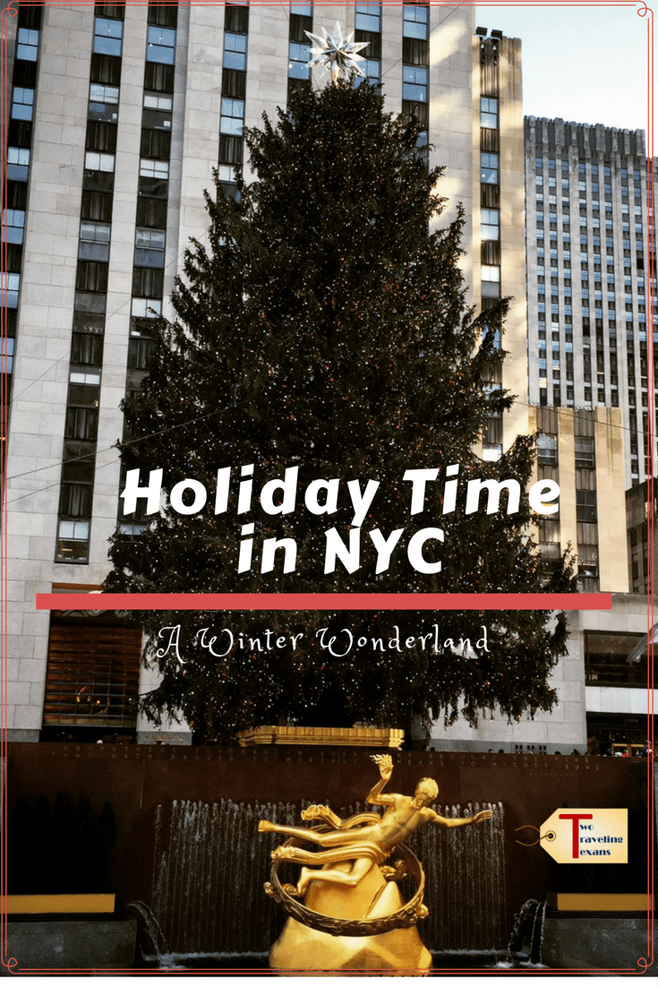 A travel blog about the best things to do during the holiday season in New York City including seeing the Rockettes and the Rockefeller Center Tree.