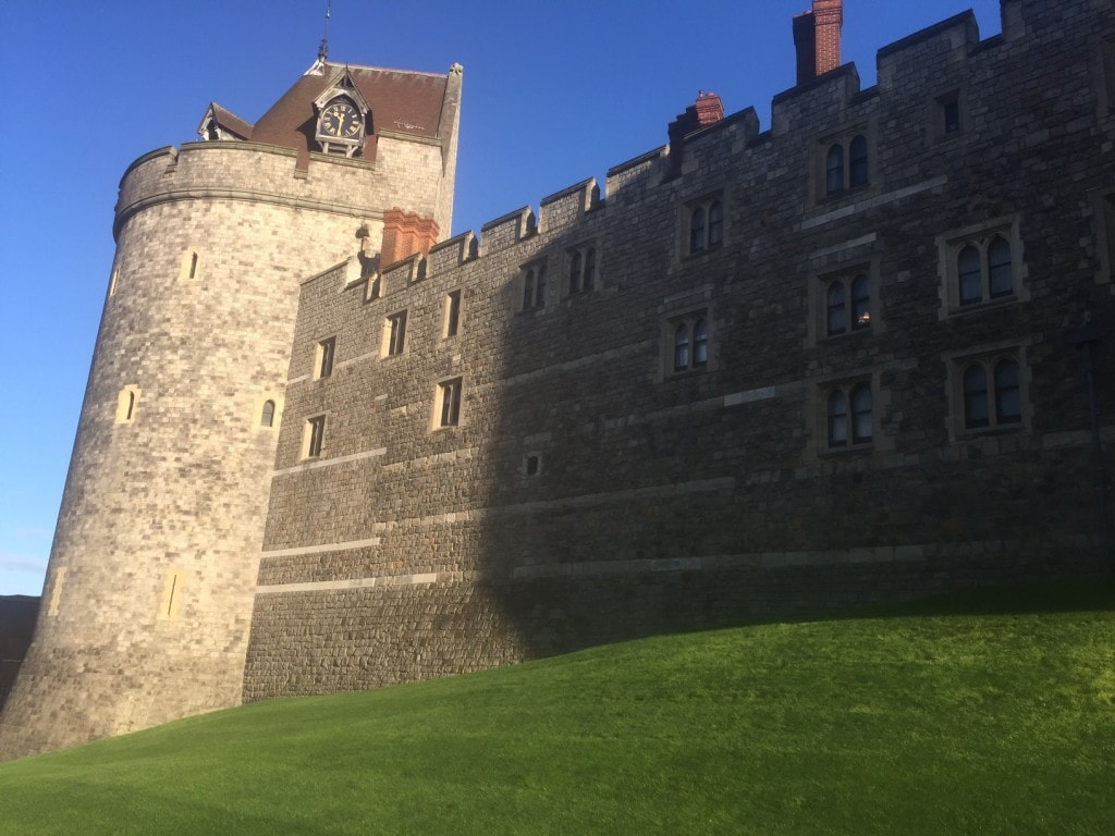 The outer wall of Windsor Castle.