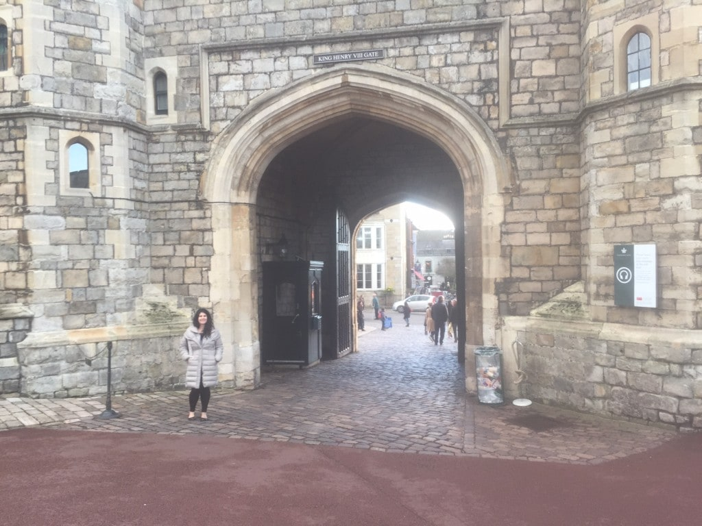 Anisa by the King Henry VII Gate, where you exit the castle