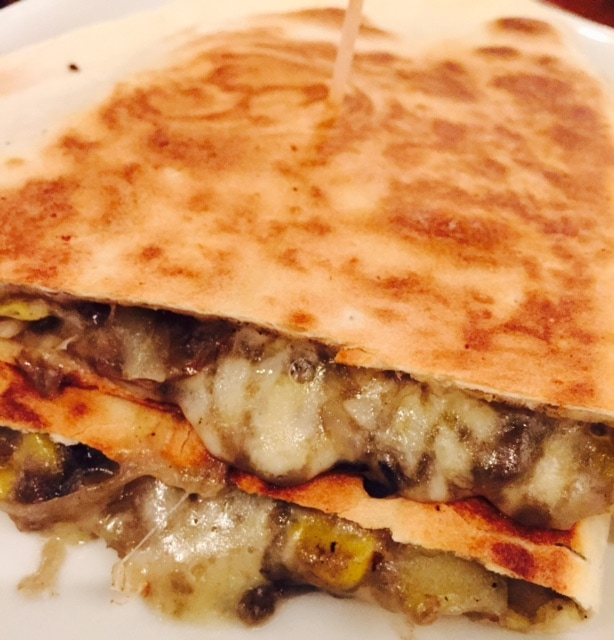 "The quesadilla was nice and cheesy! - ""Mexican Food Finds in London"" - Two Traveling Texans"