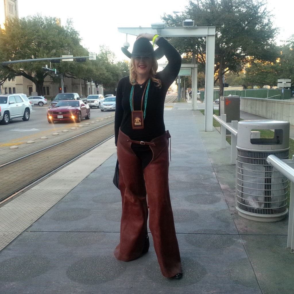 Katherine all dressed up for Go Texan Day!