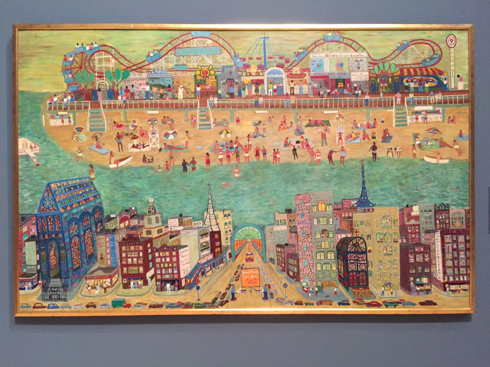 Coney Island Exhibit At The Brooklyn Museum Two Traveling Texans