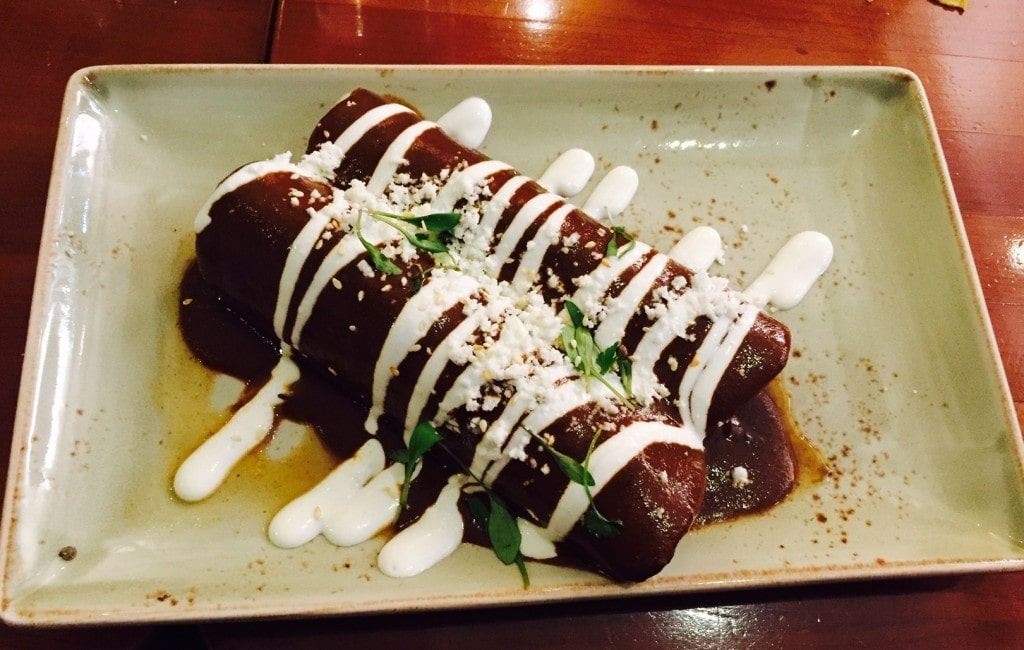 """The enchiladas tasted as good as they look! - """"Mexican Food Finds in London"""" - Two Traveling Texans"""