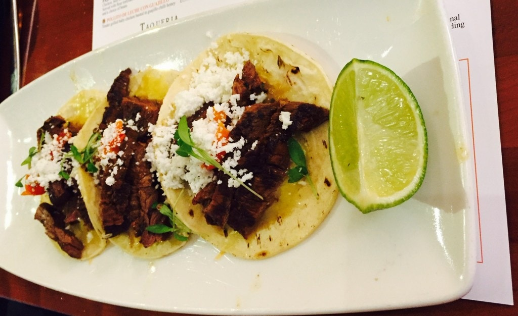 "Plate of Steak Tacos - ""Mexican Food Finds in London"" - Two Traveling Texans"
