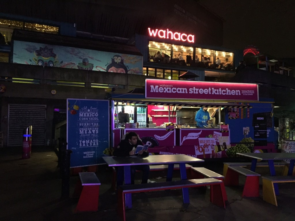 """The Wahaca location on the South Bank overlooks the Thames. - """"Mexican Food Finds in London"""" - Two Traveling Texans"""