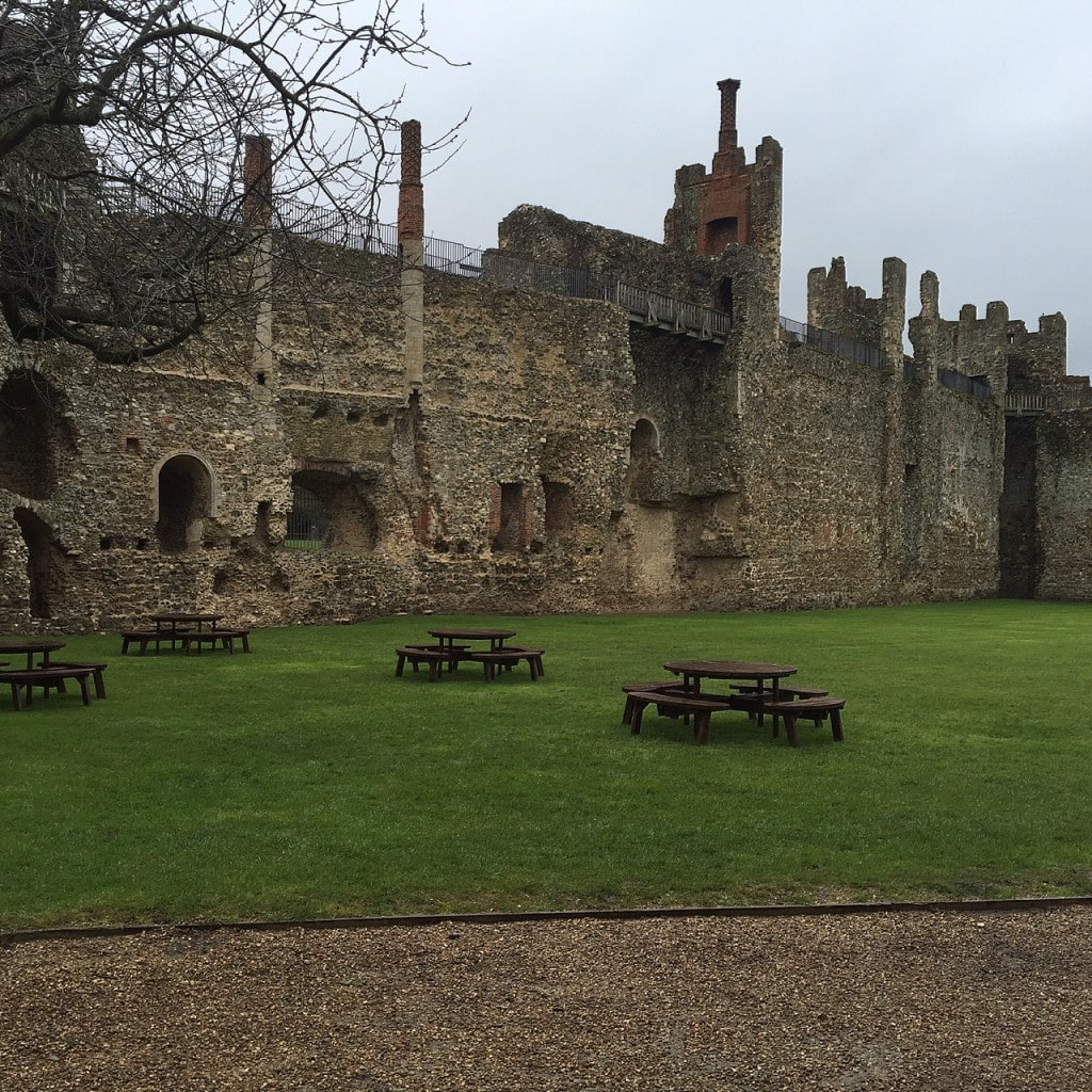 Picnic anyone? And the grass looks perfect for running around at Framlingham Castle