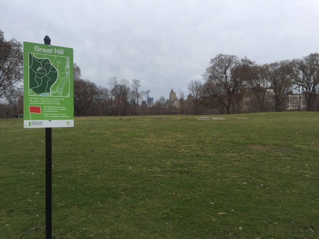 """There is plenty of room to picnic and play on the Great Hill. - """"The Hidden Gems in Northern End of Central Park"""" - Two Traveling Texans"""