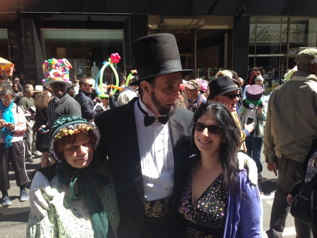 Anisa with Abraham & Mrs. Lincoln