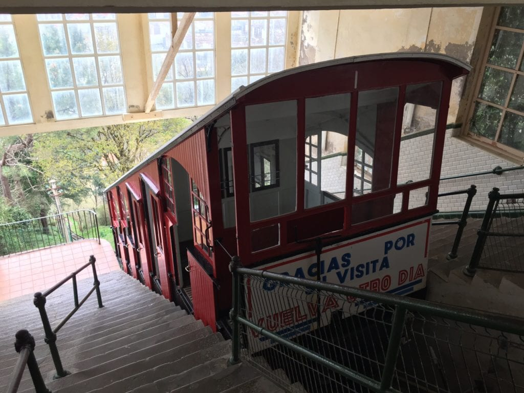 The funicular you take up to the top of Monte Igeldo in San Sebastian