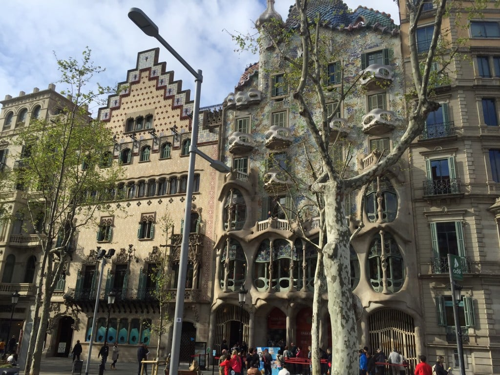 """We passed by a house designed by Gaudi. - """"Montserrat: Mountain, Monastery, and Wine"""" - Two Traveling Texans"""