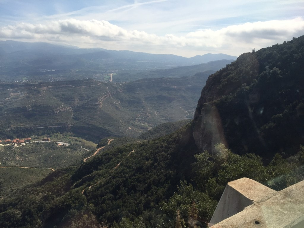 "Views from the train ride up the mountain. - ""Montserrat: Mountain, Monastery, and Wine"" - Two Traveling Texans"
