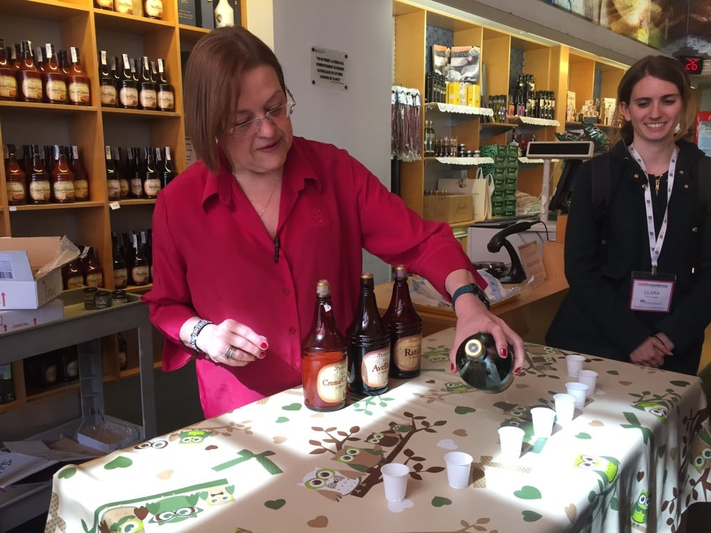 """The liqueur tasting. Our tour guide Clara is on the right. - """"Montserrat: Mountain, Monastery, and Wine"""" - Two Traveling Texans"""