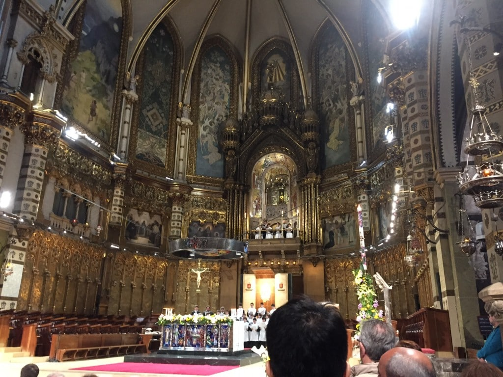"The inside of Basilica - ""Montserrat: Mountain, Monastery, and Wine"" - Two Traveling Texans"
