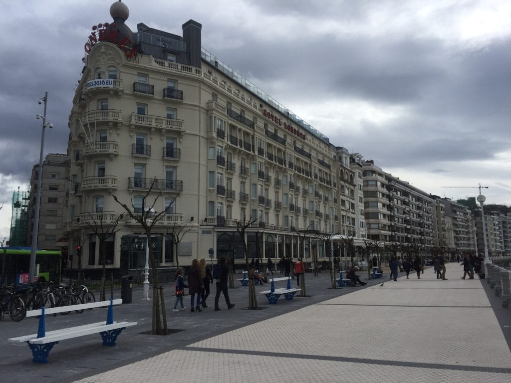 Our hotel in San Sebastian, the Hotel de Londres y de Inglaterra,
