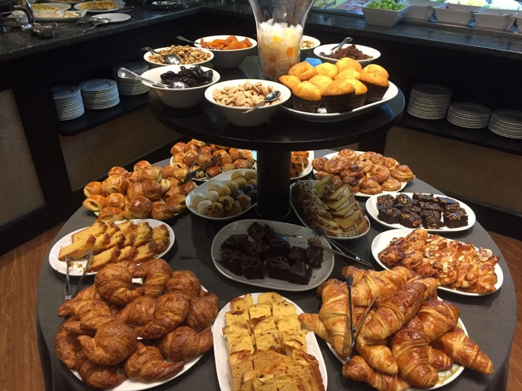 Just a sample of what was available at the breakfast buffet at Hotel Londres.
