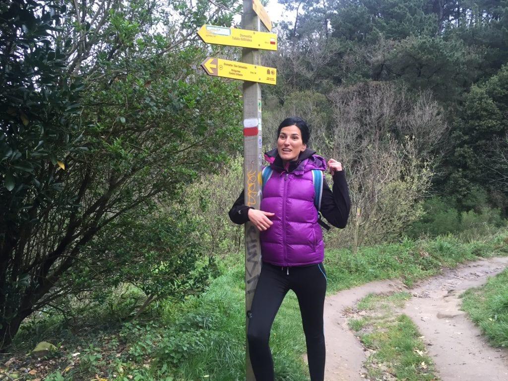 Our guide, Maria, explaining about the Camino de Santiago.