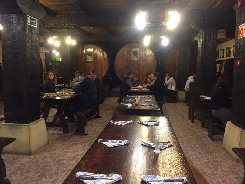 """One of the three different sections for dining inside the cider house. - """"Petritegi Cider House Rules"""" - Two Traveling Texans"""