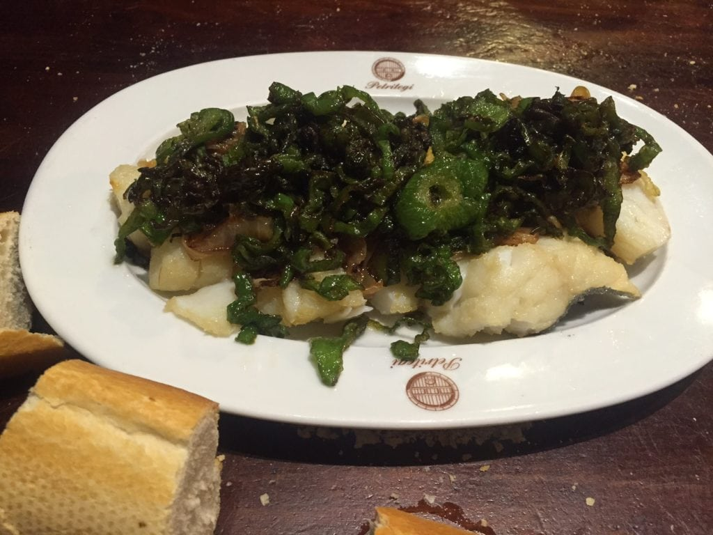"The cod with peppers was delicious! - ""Petritegi Cider House Rules"" - Two Traveling Texans"